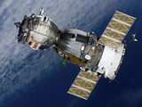 The Soyuz TMA-7 Spacecraft Departs from the International Space Station Photographic Print by Stocktrek Images