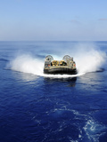 A Landing Craft Air Cushion in the Mediterranean Sea Photographic Print by Stocktrek Images