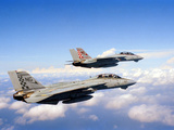 F-14A Tomcats in Flight During a Training Mission Photographic Print by Stocktrek Images