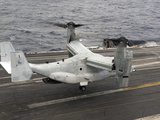 A V-22 Osprey Lands Aboard the Aircraft Carrier USS Harry S. Truman Photographic Print by Stocktrek Images