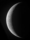 A Saxing Crescent Moon in High Resolution Photographic Print by Stocktrek Images