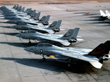 F-14A Tomcats On the Flight Line at NAS Miramar, San Diego, California Photographic Print by Stocktrek Images