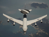 A U.S. Air Force E-3 Sentry Aircraft Off the Coast of South Korea Photographic Print by Stocktrek Images
