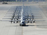 A Line of C-130 Hercules Taxi at Nellis Air Force Base, Nevada Photographic Print by Stocktrek Images