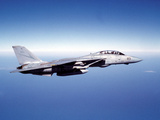 F-14A Tomcat in Flight Above the Pacific Ocean Photographic Print by Stocktrek Images