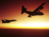 U.S. Navy F-14A Tomcat Aerial Refueling from a KC-130 Hercules Photographic Print by Stocktrek Images