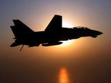 An F-14D Tomcat in Flight Photographic Print by Stocktrek Images