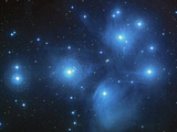 Open Star Cluster Known As the Pleiades, Or Seven Sisters Photographic Print by Stocktrek Images