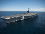 The Aircraft Carrier USS Carl Vinson in the Pacific Ocean Photographic Print by Stocktrek Images