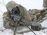 Snipers Provide Overwatch at Fort Wainwright, Alaska Photographic Print by Stocktrek Images