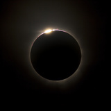 Solar Eclipse with Prominences And Diamond Ring Effect Photographic Print by Stocktrek Images