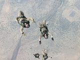 Marines Freefall Over Djibouti, Africa, During Parachute Training Fotografisk tryk af Stocktrek Images