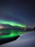 Aurora Borealis Over Vagsfjorden in Troms County, Norway Photographic Print by Stocktrek Images