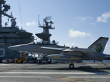 An EA-18G Growler Lands Aboard the Aircraft Carrier USS Harry S. Truman Photographic Print by Stocktrek Images