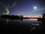 Aurora Borealis Over Long Lake, Northwest Territories, Canada Photographic Print by Stocktrek Images