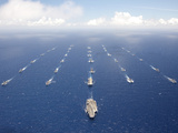 Ships And Submarines Participating in the Rim of the Pacific Exercise Photographic Print by Stocktrek Images