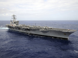The Aircraft Carrier USS Nimitz Transits the Pacific Ocean Stampa fotografica di Stocktrek Images