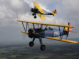 Boeing Stearman Model 75 Kaydet in U.S. Army Colors Photographic Print by Stocktrek Images