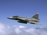 Saab JA 37 Viggen Fighter of the Swedish Air Force Photographic Print by Stocktrek Images