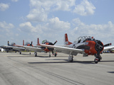 T-28C Trojan Aircraft Lined Up On the Flight Line Photographic Print by Stocktrek Images