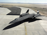 High Angle View of a SR-71A Blackbird Photographic Print by Stocktrek Images