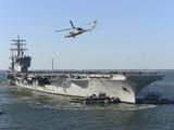 Nimitz-class Aircraft Carrier USS Dwight D. Eisenhower Photographic Print by Stocktrek Images