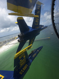 The Blue Angels Perform the Diamond 360 Maneuver Over Florida Photographic Print by Stocktrek Images