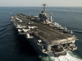 The Nimitz-class Aircraft Carrier USS John C. Stennis Transits the Arabian Sea Photographic Print by Stocktrek Images