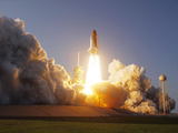 Space Shuttle Discovery Lifts Off from Its Launch Pad at Kennedy Space Center, Florida Photographic Print by Stocktrek Images