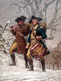 Vintage Revolutionary War Print of American Minutemen Photographic Print by Stocktrek Images