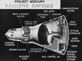 Cutaway Drawing of the Project Mercury Ballistic Capsule Photographic Print by Stocktrek Images