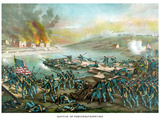 Vintage Civil War Print of the Battle of Fredericksburg Photographic Print by Stocktrek Images