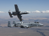 Two A-10 Thunderbolt's Fly Over the Saylor Creek Bombing Range, Idaho Photographic Print by Stocktrek Images