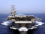 The Aircraft Carrier USS Dwight D. Eisenhower Transits the Arabian Sea Lámina fotográfica por Stocktrek Images