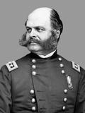 Digitally Restored Vector Portrait of Union Army General Ambrose Everett Burnside Photographic Print by Stocktrek Images