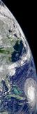 View of Hurricane Frances On a Partial View of Earth Papier Photo par Stocktrek Images