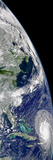 View of Hurricane Frances On a Partial View of Earth Photographic Print by Stocktrek Images