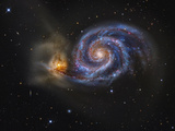 Whirlpool Galaxy Photographic Print by Stocktrek Images