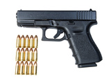 Glock Model 19 Handgun with 9mm Ammunition Photographic Print by Stocktrek Images