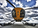 A Bell 407 Utility Helicopter On the Helipad of An Oil Rig Photographic Print by Stocktrek Images