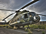 HDR Image of An Afghanistan National Army Mil Mi-17 Helicopter Photographic Print by Stocktrek Images