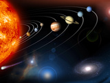 Digitally Generated Image of Our Solar System And Points Beyond Photographic Print by Stocktrek Images