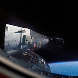 The Gemini 7 Spacecraft in Earth Orbit Photographic Print by Stocktrek Images