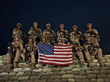 Group Photo of U.S. Marines Photographic Print by Stocktrek Images