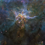 Carina Nebula Star-forming Pillars And Herbig-Haro Objects with Jets Photographic Print by Stocktrek Images