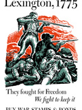 World War II Poster of American Minutemen Firing Their Rifles Photographic Print by Stocktrek Images