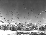 Men And Equipment Being Parachuted Over Korea Photographic Print by Stocktrek Images
