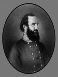 Digitally Restored Vector Portrait of General Stonewall Jackson Photographic Print by Stocktrek Images