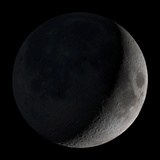 Waxing Crescent Moon Photographic Print by Stocktrek Images