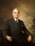 Digitally Restored Painting of Harry S. Truman Photographic Print by Stocktrek Images